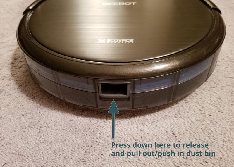 Deebot N79S Remove Dust Bin