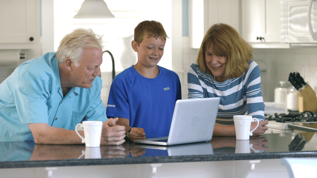 Grandchildren, grandparents sharing in online ancestry search