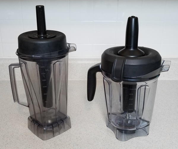 Vita-Mix Super 5000 and Vitamix 750 Professional container comparison