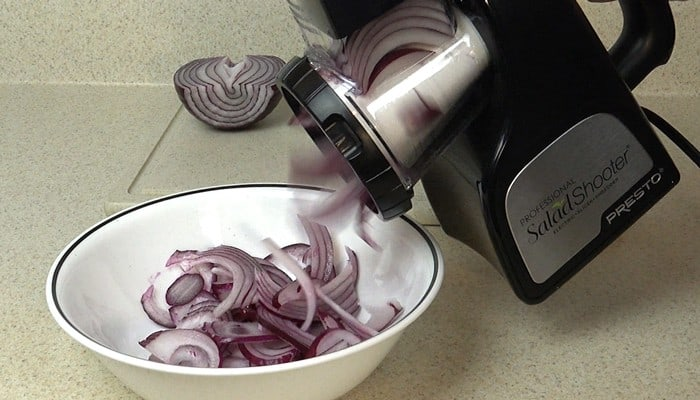Salad Shooter Professional Black Slicing Onions