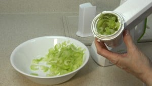 Salad Shooter difficulty with celery