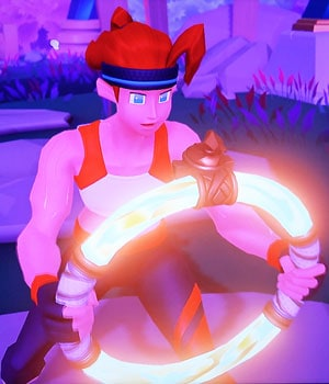 Player's character holding the Ring's on-screen character