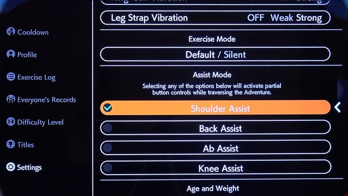 Nintendo Switch Ring Fit Assist Mode