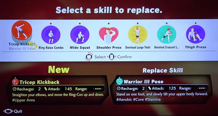 Nintendo Switch Ring Fit Exercise Skills