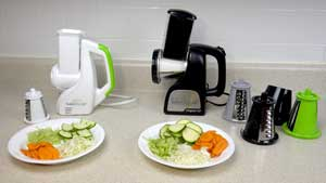 Presto Salad Shooter and Professional Salad Shooter side by side
